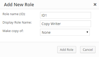 add new role filled up details