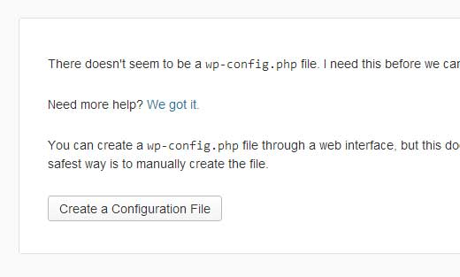 create a config file