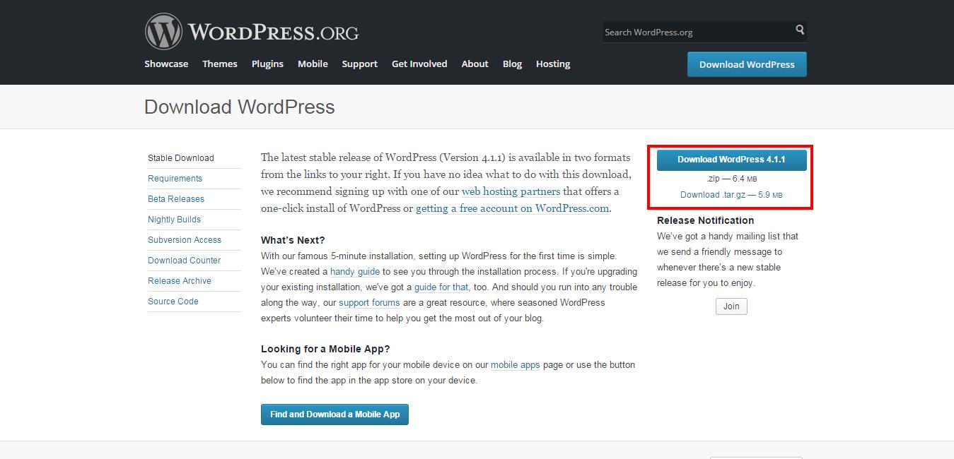 download wordpress 411