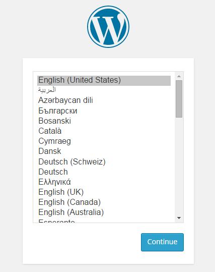 wrodpress language selection