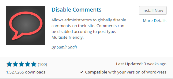 disabling comments