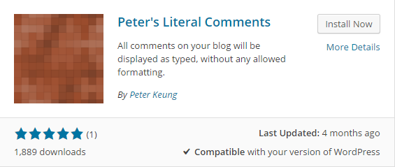 peter's literal comments