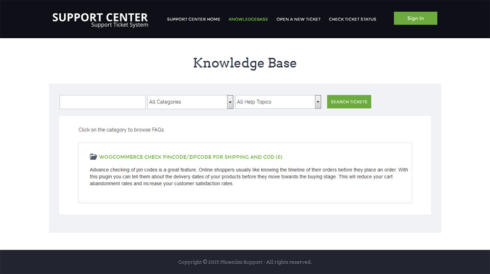 knowledge base page osticket responsive theme