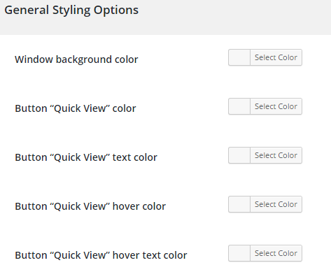 woocommerce quick view plugin backend image 5