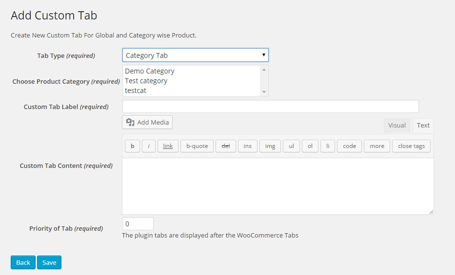 add custom tabs woocommerce plugin