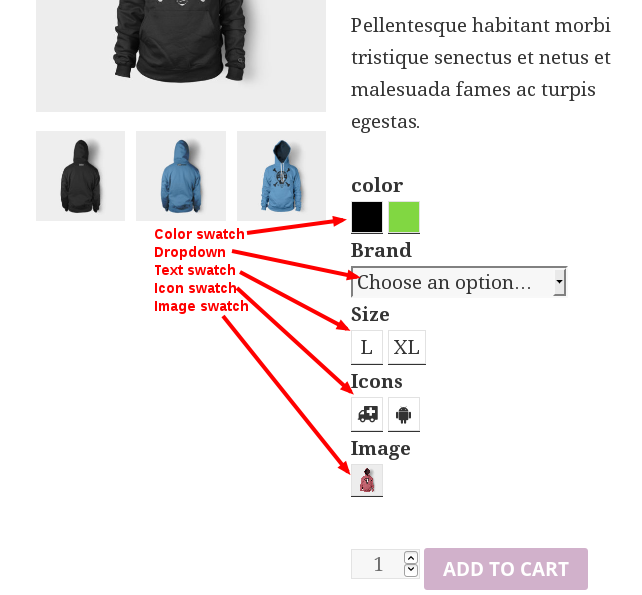 CREATE COLOR AND IMAGE SWATCHES IN WOOCOMMERCE | Phoeniixx